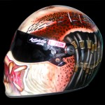 Simpson helmet airbrushed with Predator design